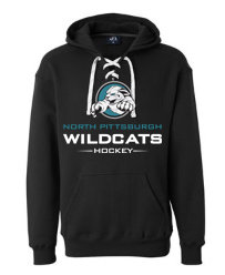 NP Wildcats-Lace Up Hoodie-Wildcat Logo 2