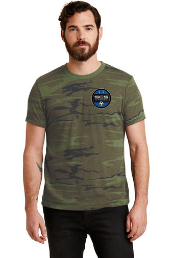 SCS-Men's Camo Short Sleeve Shirt-Left Chest Logo