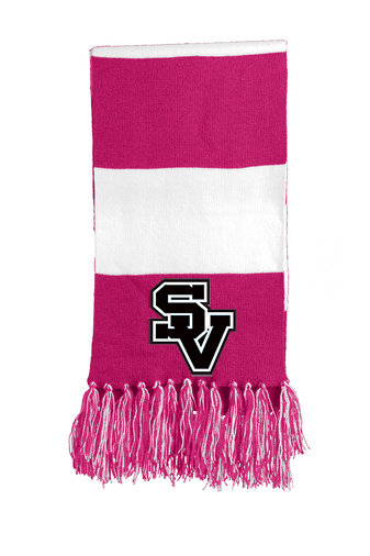 SVJuniorFootball-Pink Striped Scarf