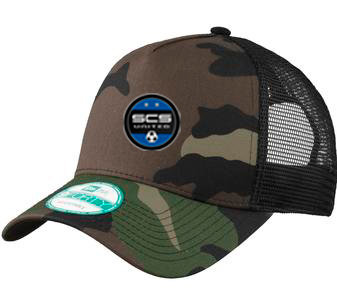 SCS-New Era Camo Trucker Hat