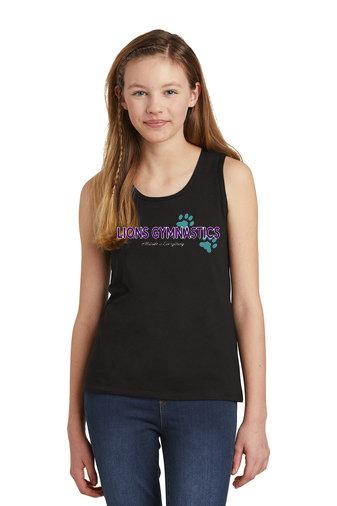 LionsGymnastics-Girls Tank Top-Logo 2
