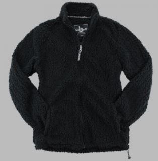 FlashSale!-Men's Black Full Zip Sherpa