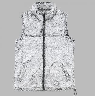 FlashSale!-Ladies Frosty Gray Sherpa Vest