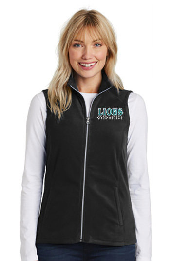 LionsGymnastics-Women's Full Zip Fleece Vest