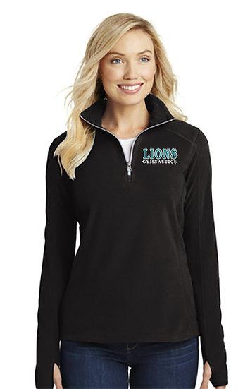 LionsGymnastics-Women's Quarter Zip Fleece Jacket
