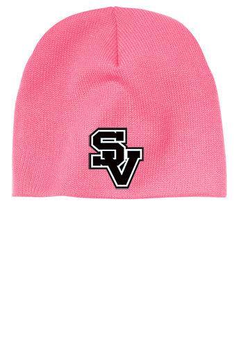 SVJuniorFootball-Pink Thin Knit Beanie