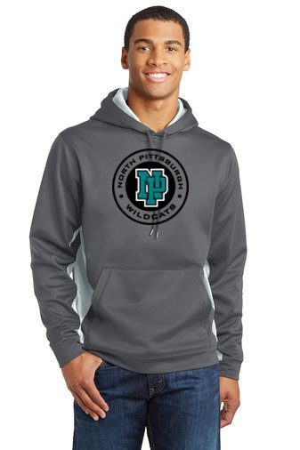 NP Wildcats-Performance Hoodie Camohex Sides-Round Logo