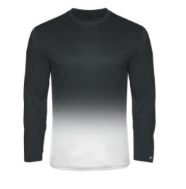 SVFootball-Badger Ombre Long Sleeve Shirt