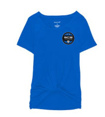 SCS-Women's Short Sleeve Twisted Shirt-Left Chest Logo
