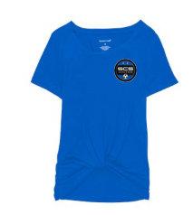 SCS-Women's Short Sleeve Twisted Shirt-Left Chest Logo