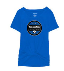 SCS-Women's Short Sleeve Twisted Shirt-Round Logo