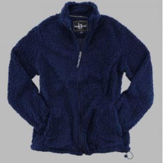 FlashSale!-Women's Navy Full Zip Sherpa