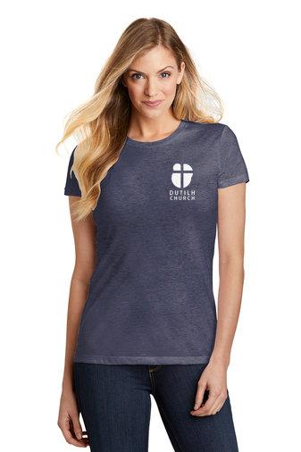 DutilhChurch-Women's Fitted Short Sleeve Shirt-Left Chest