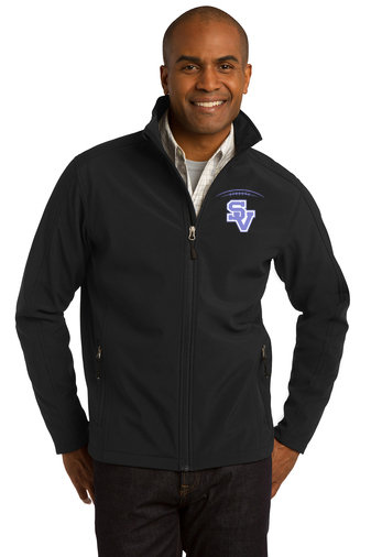 SVJuniorFootball-Men's Full Zip Soft Shell Jacket