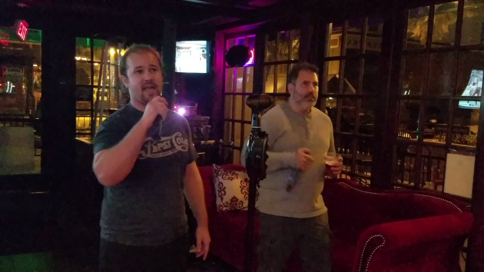 Brett & Vaughn singing Don't Stop Me Now by Queen