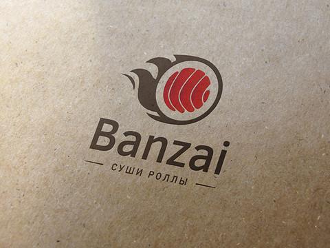 "Логотипа - суши-роллы ""Банзай"""