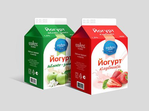 "Упаковка - йогурт ""Кубарус Молоко"""