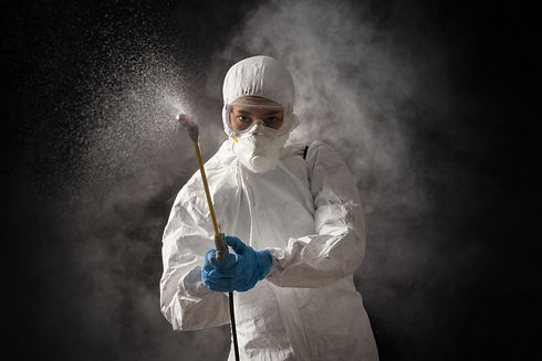 Virologist scientists wearing PPE kits a