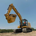 Caterpillar Excavator with CMP Grapple Attachement