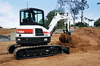 Bobcat Excavator with CMP Grapple Attachement