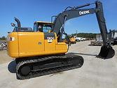 John Deere Excavator with CMP Grapple Attachement