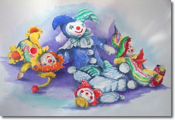 Clowns Card