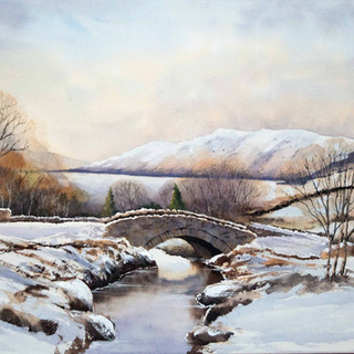 Ashness Bridge in Winter