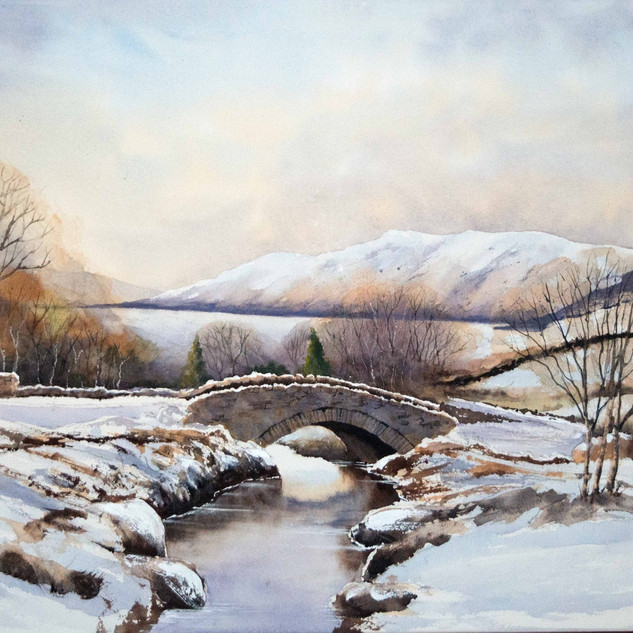 Ashness Bridge in Winter