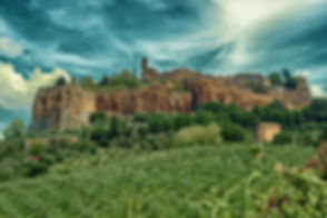 View at ancient town of Orvieto, Umbria, Italy, toned image.jpg