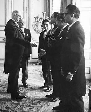 Syed Waliullah with Général de Gaulle