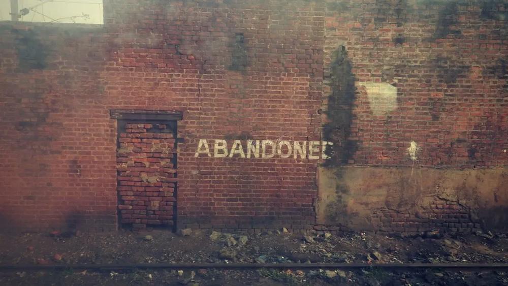 abandoned, wall, Indian Railway