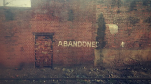 abandoned, wall, Indian Railway