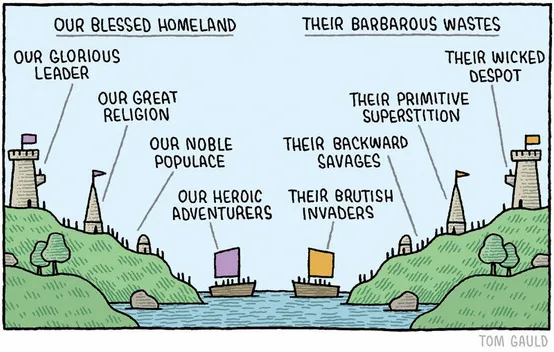 Tom Gauld Us versus Them In-group Bias