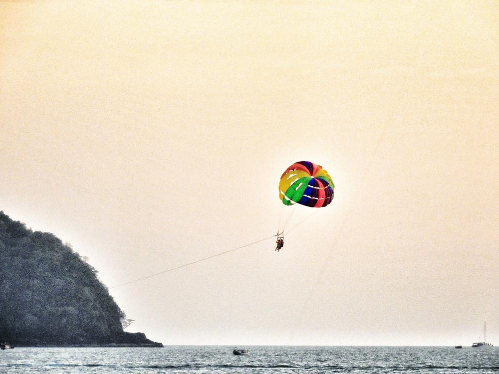 parasailing, paragliding, Malaysia, Langkawi, island, parachute