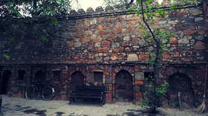 Hauz Khas, New Delhi, north India, fort wall
