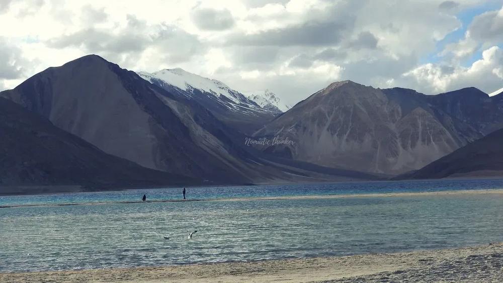 Ladakh, Pangong Tso, Himalayas, river, mountains