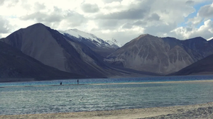 Ladakh, Pangong Tso, Himalayas, river, mountains