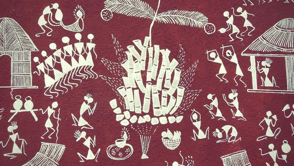 warli, painting, tribal art, indigenous culture, Maharashtra, India