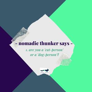 nomadic thunker says