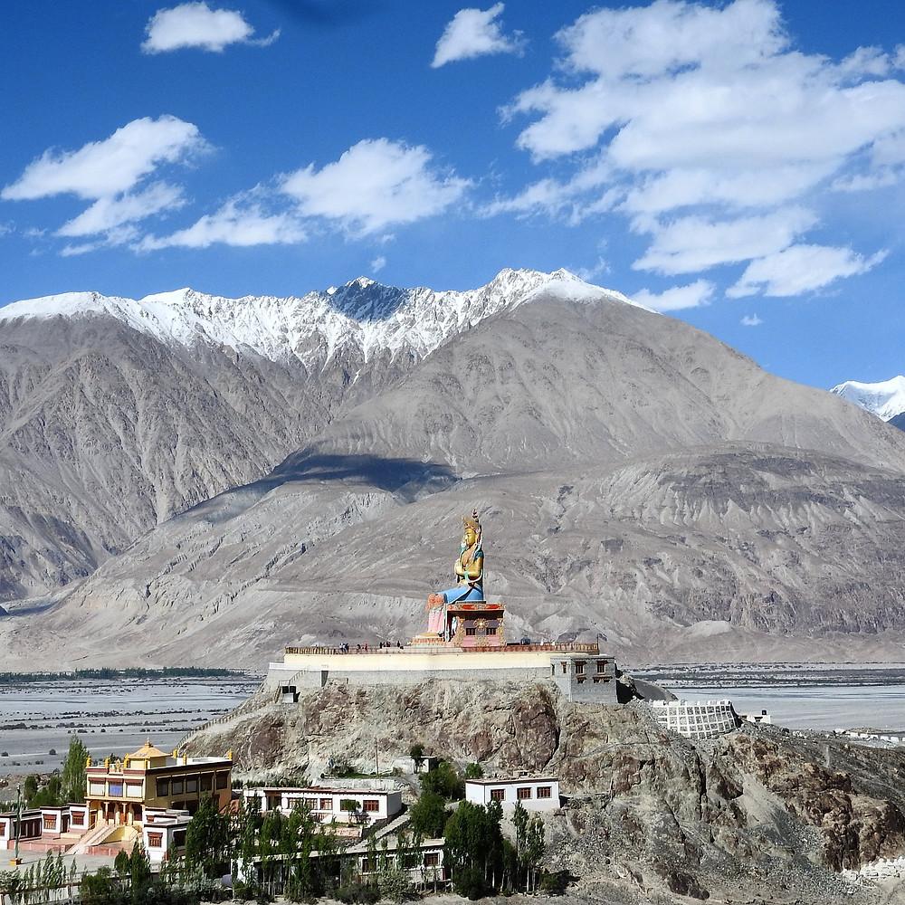 Buddhist Diskit Monastery in Himalayan Ladakh