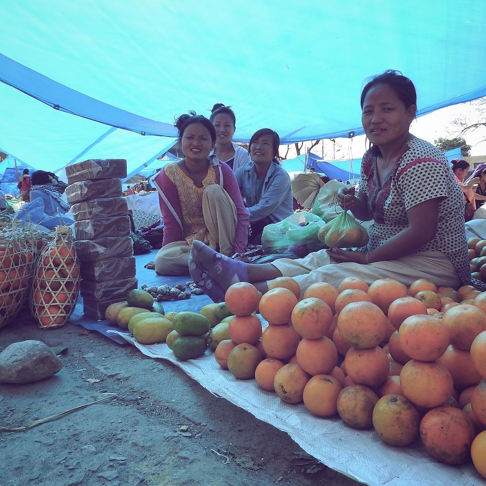 oranges; Arunachal Pradesh; northeast India; local market