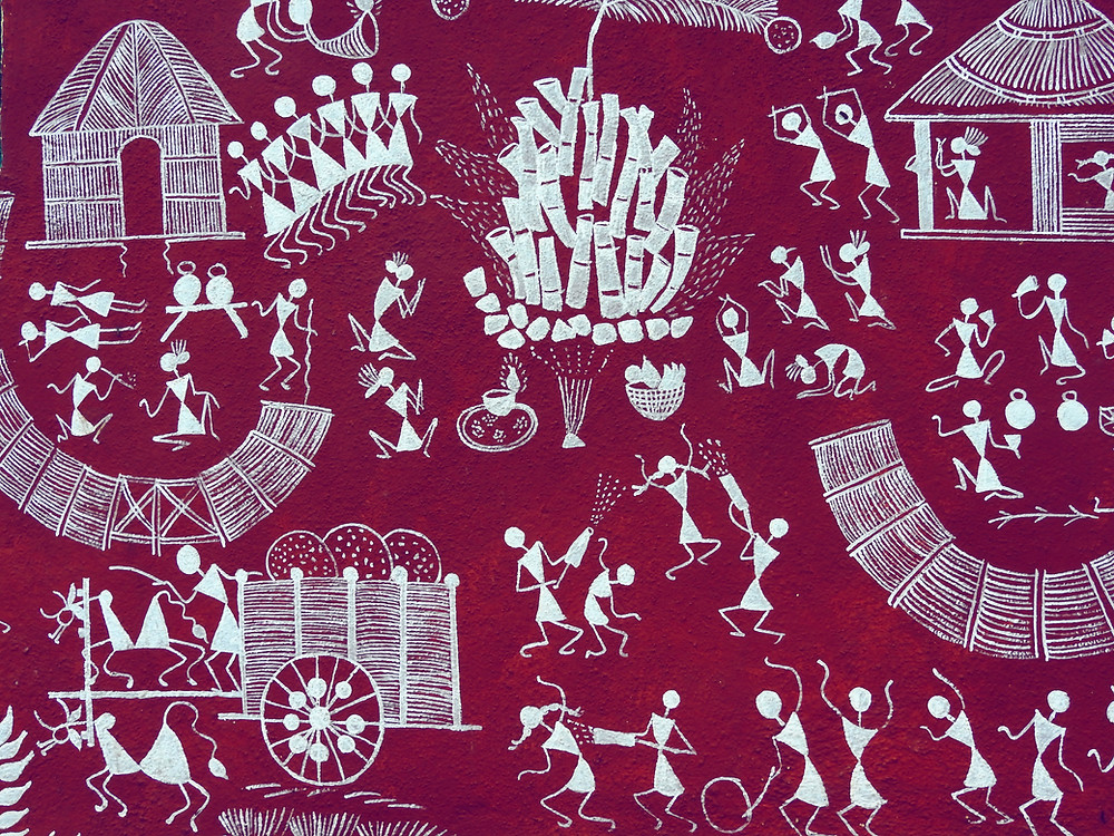 Warli painting by indigenous people of central and western India