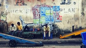 Sasson Docks, Mumbai, wall mural, labour