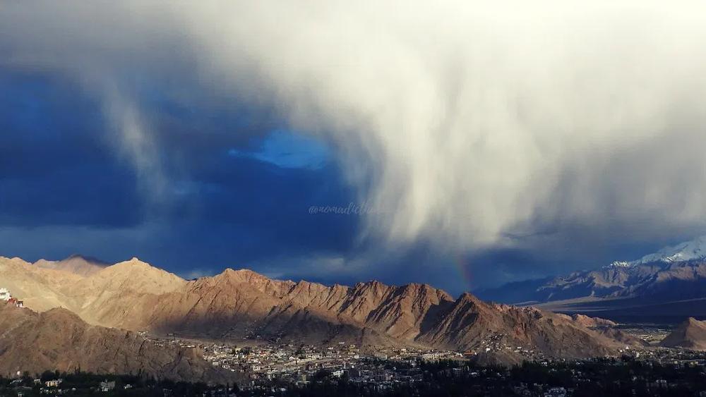 Leh, Ladakh, rainbow, clud, storm, sky