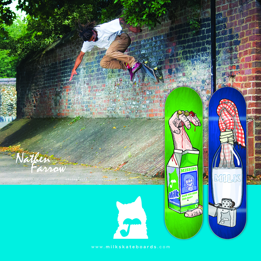 Milk Skateboards advert