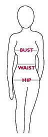 Bust Waist Hip Measurment Guide