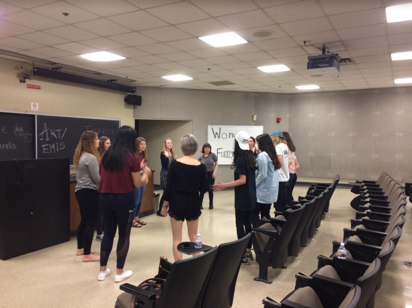A women's improv workshop
