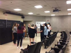 A women's improv workshop