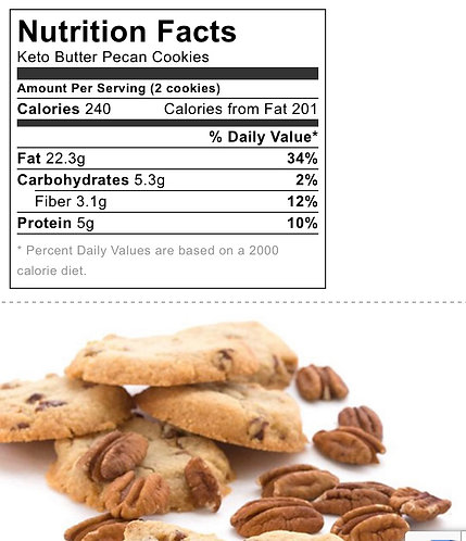 KETO Butter Pecan Cookies (3-Pack)