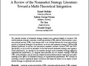 A Review of the Nonmarket Strategy Literature